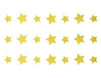 1404-0527 Гирлянда н/нитке Звёзды золот блеск 2,2м