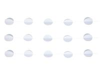 1404-0528 Гирлянда н/нитке Круги 3D белые 2,2м