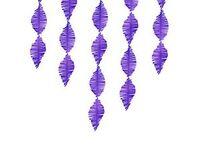 1404-0556 Гирлянда Бахрома бумажн фиолетовая 3м/PD