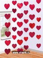 1407-0050 Украшение на дверь Сердца красные 2,1м/A