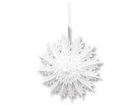 1410-0628 Фигура бум Снежинка 3D белая 45см/G