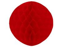 1412-0060 Шар бумажный красный 30см/G