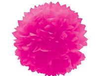 1412-0070 Помпон бумажный ярко-розовый 40см/G