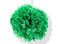 1412-0157 Помпон бумажный зеленый 30см