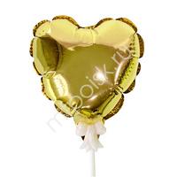 Y Шар самодув Сердце Gold 15см