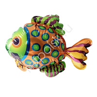 Y Шар самодув фигура Рыба пестрая 20см