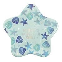 Y 18см Тарелки-Звезды бумажные ламинированные для Русалочки 6шт