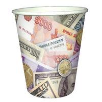 Стаканы бумажные Деньги 200 мл 6 шт