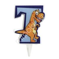 MC Свеча Цифра 7 Динозавр 5см