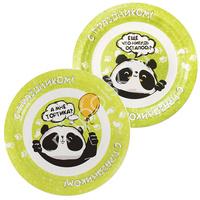 P 23см Тарелки бумажные Панда С Праздником! 6шт