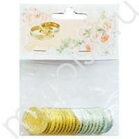 AB Свадебные монеты с пожеланиями 3см 20шт