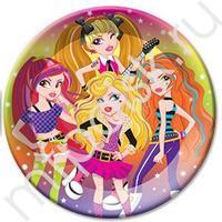 F 23см Тарелки бумажные ламинированные Party Girls 6шт