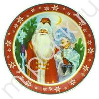 F 23см Тарелки бумажные ламинированные Дед Мороз и Снегурочка 6шт