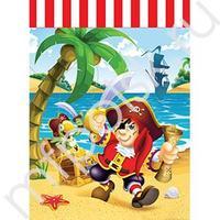 F Пакетики для подарка Веселый Пират 23х16,5см 6шт