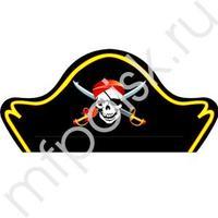 PR Шляпа Пирата 6 шт