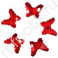 Q Декоративные бусины Бабочки красные 2,3x1,8см 20шт