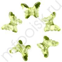 Q Декоративные бусины Бабочки лимонные 2,3x1,8см 20шт