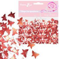 Q Конфетти фольгированное Бабочки красные 14гр