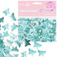 Q Конфетти фольгированное Бабочки синие 14гр