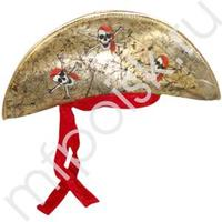 WB Шляпа Пирата золотая