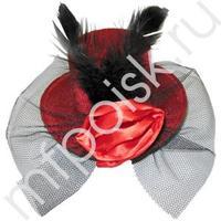 WB Шляпка заколка красная