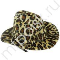 WB Шляпка заколка леопардовая