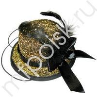 WB Шляпка золотая с пером