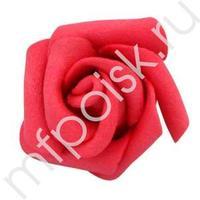Y Декор свадебный Роза красная 6см 5шт
