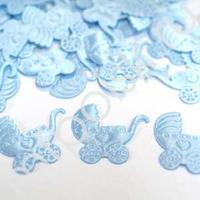 Y Конфетти атласное Коляска голубая 100шт
