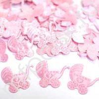 Y Конфетти атласное Коляска розовая 100шт