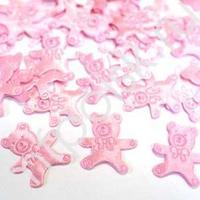 Y Конфетти атласное Медвежонок розовый 100шт