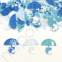 Y Конфетти пластиковое Зонтики голубые ассорти 14гр