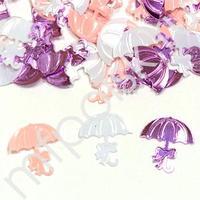 Y Конфетти пластиковое Зонтики розовые ассорти 14гр