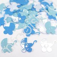 Y Конфетти пластиковое Коляска голубая ассорти 14гр