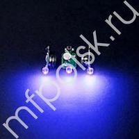 TP Светодиод 3d синий в защитном корпусе 10шт