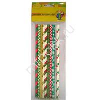 BA Трубочки бумажные Праздничные ассорти 10шт
