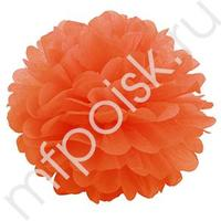 Q Помпон бумажный 28см оранжевый