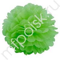Q Помпон бумажный 28см светло-зеленый