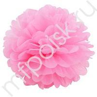 Q Помпон бумажный 40см розовый