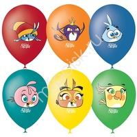 "M 12""/30см Пастель+Декоратор (шелк) 1 ст. 4 цв. рис Angry Birds Stella 50шт"