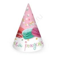 PR Колпачок С Днем Рождения Макаруны 6шт