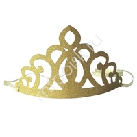 Y Корона бумажная золотая 6шт