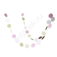 Y Подвеска Круги 6,5см white/pink/gold глиттер180см
