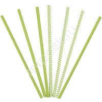 Y Трубочки бумажные ассорти Green 12(6+6)шт