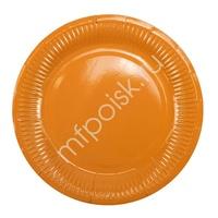 Y 18см Тарелки бумажные ламинированные Orange 6шт
