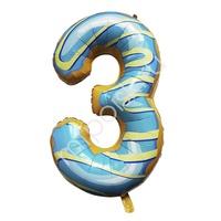 """Y Фигура Цифра 3 Пончик 40""""/102см"""