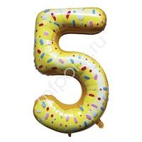 """Y Фигура Цифра 5 Пончик 40""""/102см"""