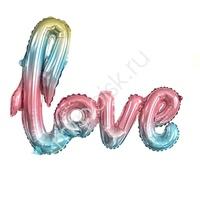 Y Фигура буквы 73 LOVE Радужная 51см Х 105см