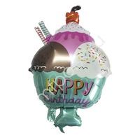 """Y Фигура 34 Десерт Happy Birthday 18""""/45см"""