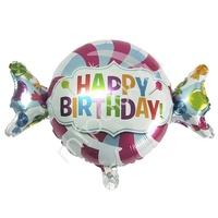"""Y Фигура 32 Конфета Happy Birthday 18""""/45см"""